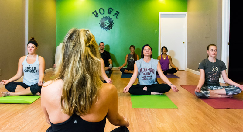 Shannon Teaching Yoga In New Castle
